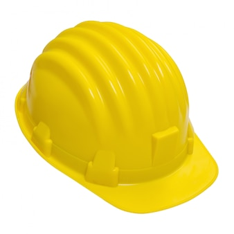 Yellow helmet isolated.