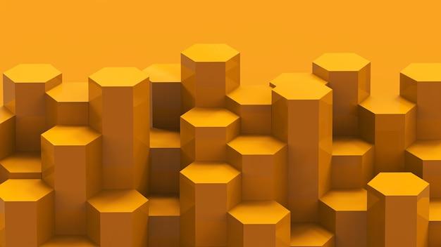 黄色の六角形のパターンの背景
