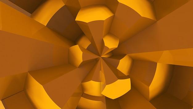 노란색 육각형 패턴 배경