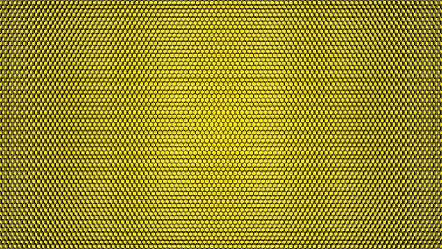 Yellow hexagon texture background.