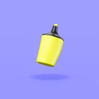 보라색 바탕에 노란색 형광펜
