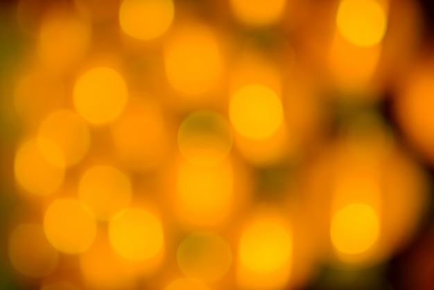 Yellow holiday bokeh. abstract background