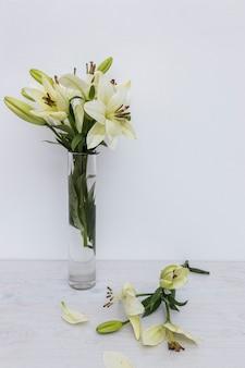 Gigli gialli in vaso