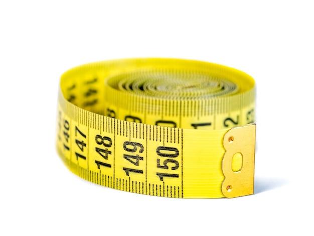 分離された黄色の巻尺、オブジェクト