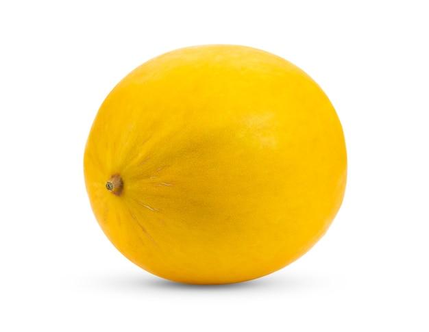 Желтая дыня, изолированные на белом фоне