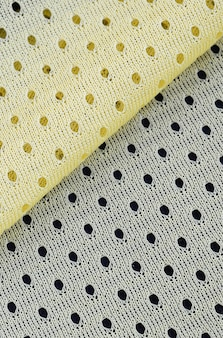 Yellow mesh fabric textile