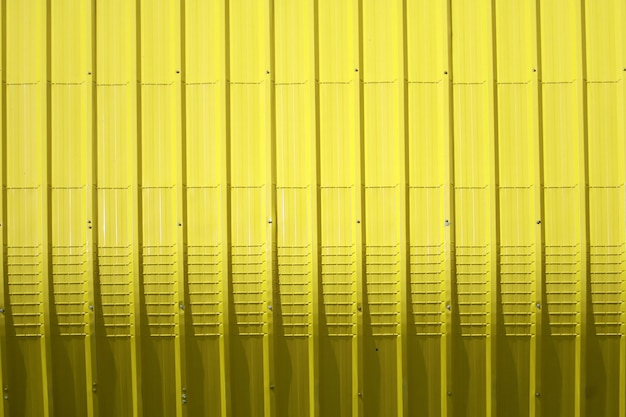 Yellow metal sheet pattern and vertical line design