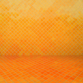 Yellow mosaic texture and background.