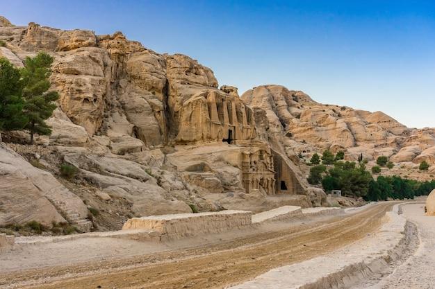 Yellow obelisk tomb bab el-siq triclinium outer siq canyon hiking
