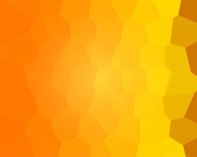 벌집 꿀벌 일러스트 근접 촬영과 노란색 오렌지 배경