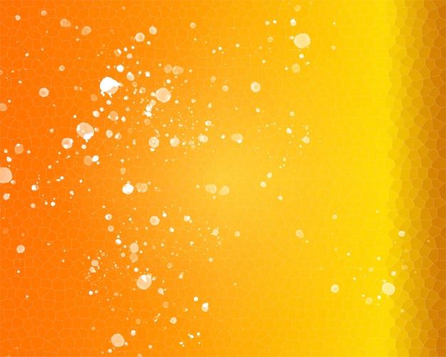 Желто-оранжевый фон с пчелиными сотами иллюстрации крупным планом