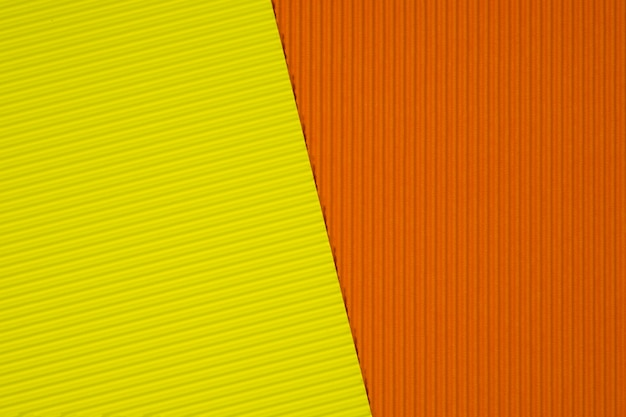 Yellow and orange corrugated paper texture