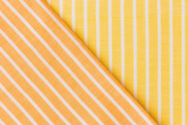 Yellow and an orange fabric clothes backdrop