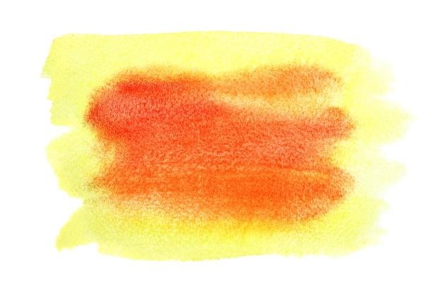 黄色-オレンジ色の水彩の抽象的な背景-あなた自身のテキストのためのスペース