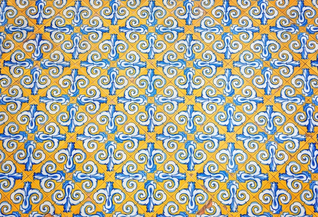 Yellow ornamented pattern