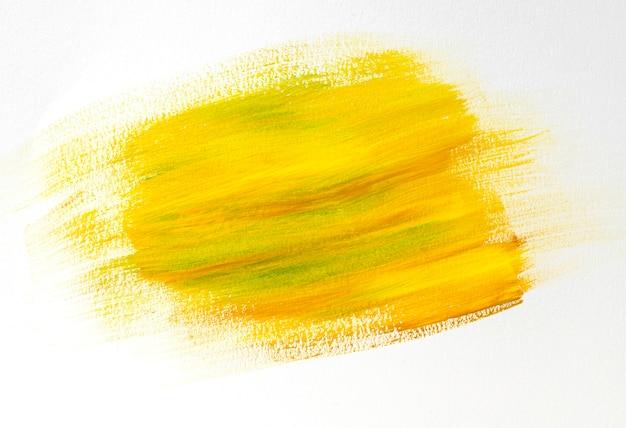 黄色のペイントブラシストローク効果