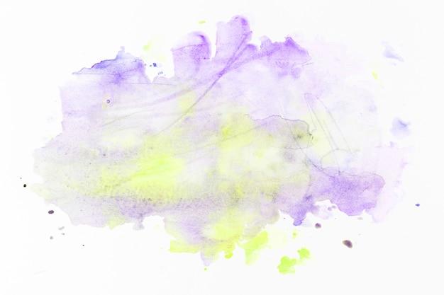 紫色の上に黄色の塗料