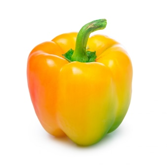Yellow pepper isolated on the white