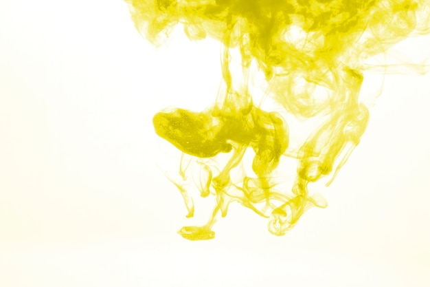 Yellow pigment in water