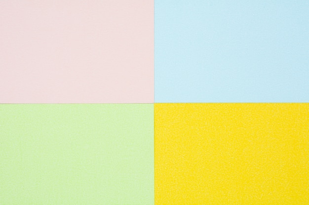 Yellow, pink, green and blue paper texture