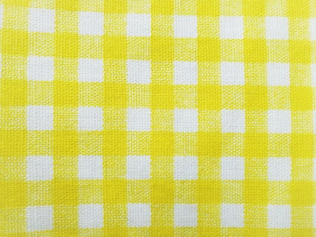 Yellow plaid fabric simple for the background.