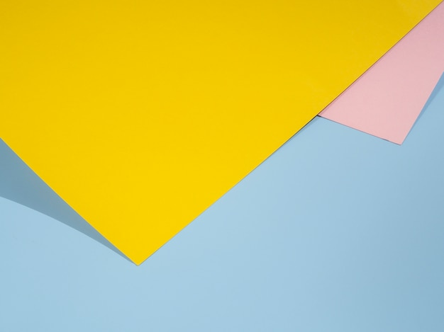 Yellow polygon paper design