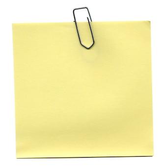 노란색 포스트잇 절연