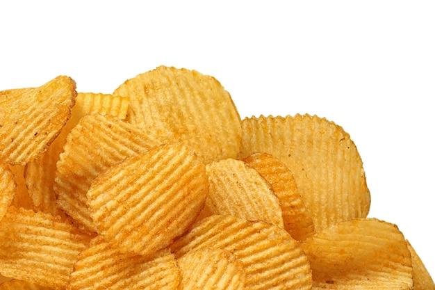 텍스트에 대 한 노란색 감자 칩 장소