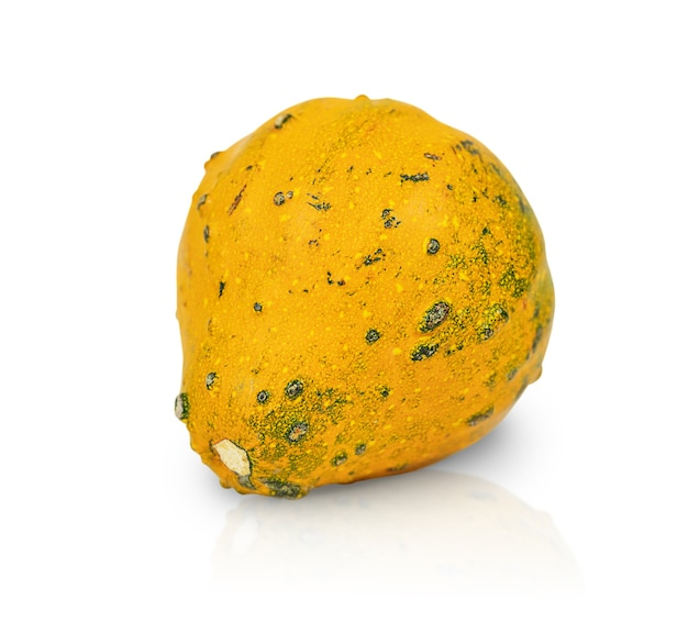 Yellow pumpkin isolated on white background