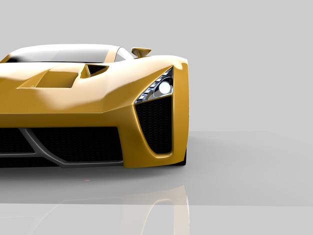 黄色のレーシングコンセプトカー