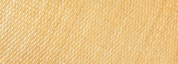 黄色い籐のテクスチャ。