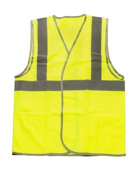 Желтый светоотражающий жилет изолирован