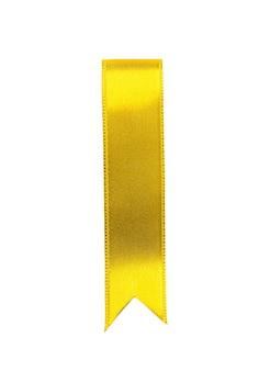 Yellow ribbon bookmark on white b