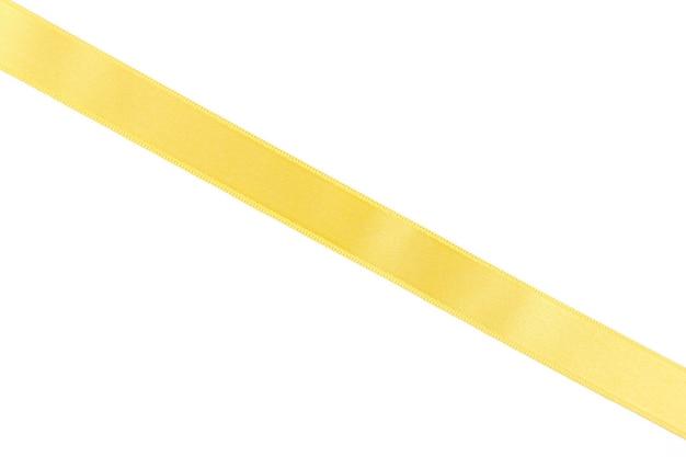 白で隔離の黄色いリボン