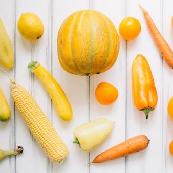 Yellow ripe vegetables