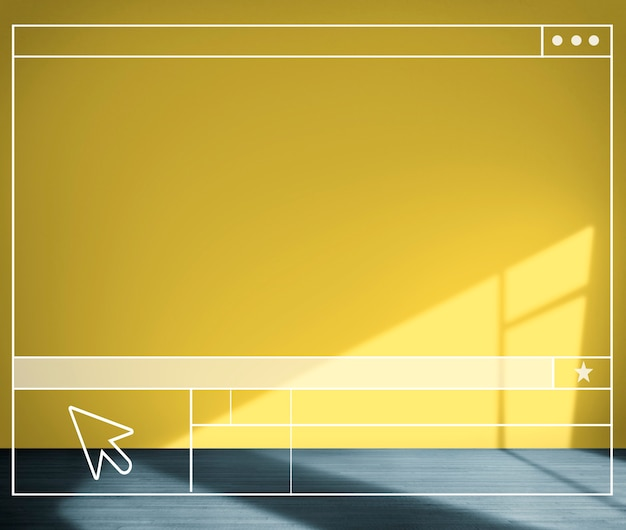 Yellow room searching structure wall background concept