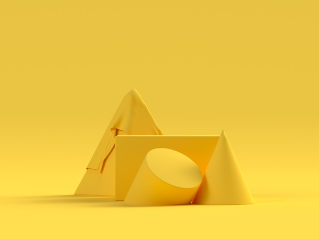 Yellow scene geometric shape set podium stage