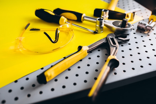Yellow set of tools