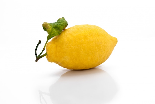 Yellow sicilian fresh lemon