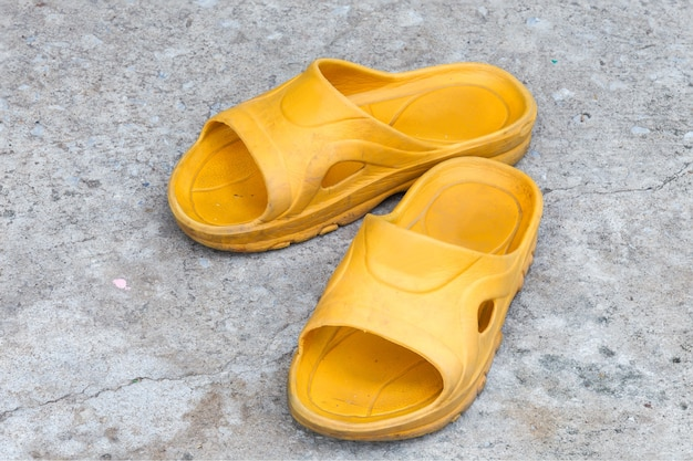 Yellow slippers