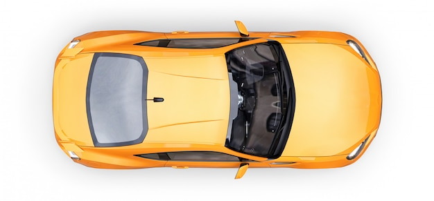 Yellow small sports car coupe