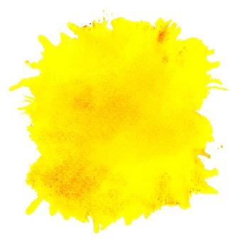 黄色の水しぶき水彩