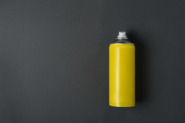 Yellow spray can for spray