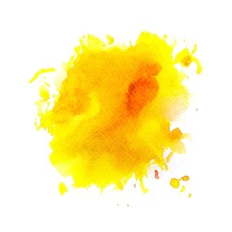 Желтое пятно акварельный фон.