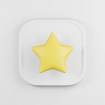 黄色の星のアイコンの漫画のスタイル。