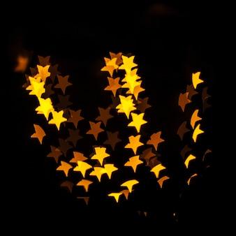 Yellow star-shaped lights