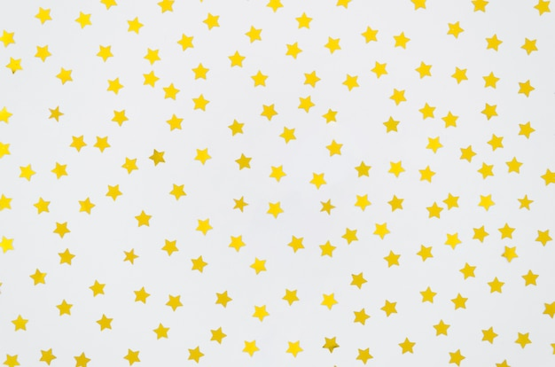 Yellow stars on white background