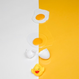 Yellow still life of egg
