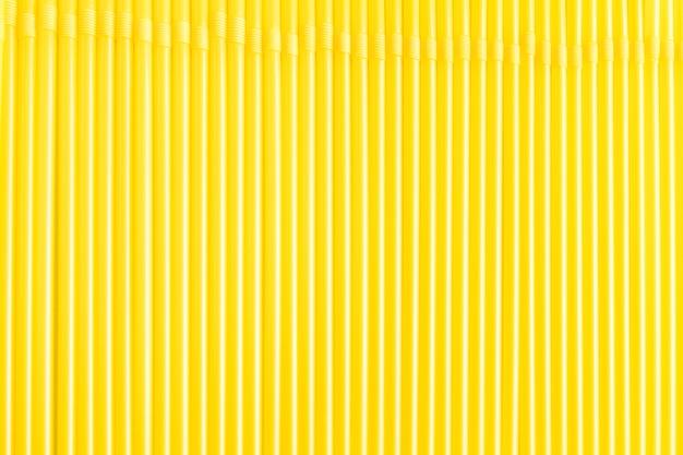 Yellow straws bottom of flexible tube for advertising