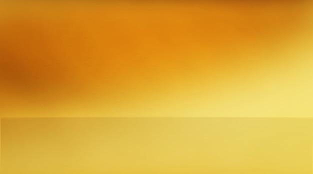 ゲーマー、ファッションのための黄色のスタジオの背景。使用される背景スタジオグラデーションは、製品を表示します。